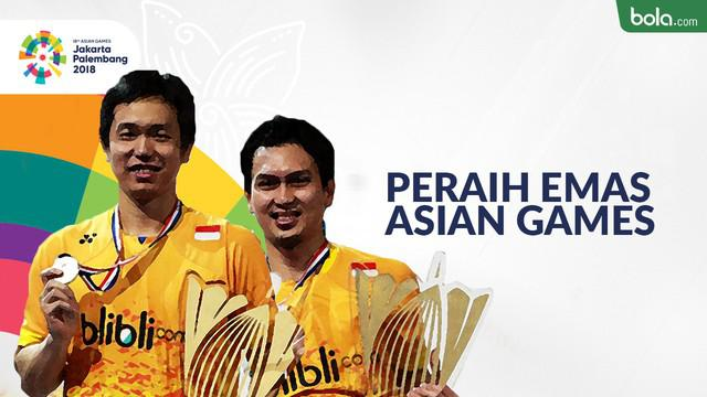 Berita video 6 ganda putra bulutangkis Indonesia peraih emas di Asian Games.