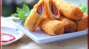 Resep Mudah Sandwich Goreng Isi Sosis - Lifestyle Fimela.com