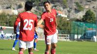 Pelatih Shin Tae-yong menilai seluruh pemain Timnas Indonesia U-19 tampil bagus, termasuk duo debutan pemain blasteran Jerman, Kelana Noah Mahessa dan Luah Fynn Jeremy Mahessa. (dok. PSSI)