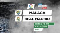 La Liga_Malaga Vs Real Madrid (Bola.com/Adreanus Titus)