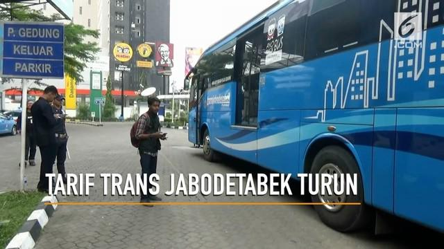 Per tanggal 19 Maret 2018, Menteri Perhubungan, Budi Karya Sumadi, Menetapkan penurunan tarif Trans Jabodetabek untuk menarik minat pemilik kendaraan roda empat.