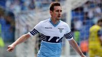 SS Lazio datangkan penyerang papan atas Miroslav Klose dari Bayern Munchen yang sudah habis kontrak. Kedatangan Klose membuat SS Lazio sukses memenangkan Coppa Italia  (AFP/Tiziana Fabi)