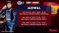 Jadwal WSBK (World Superbike) Aragon Pekan Ini Tayang di FOX Sports Eksklusif Melalui Vidio. (Sumber : dok. vidio.com)