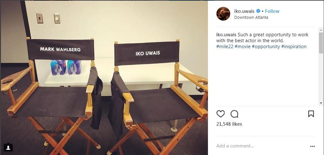 Iko Uwais bangga bisa mendapat kursi sejajar dengan Mark Wahlberg (Foto: Instagram)