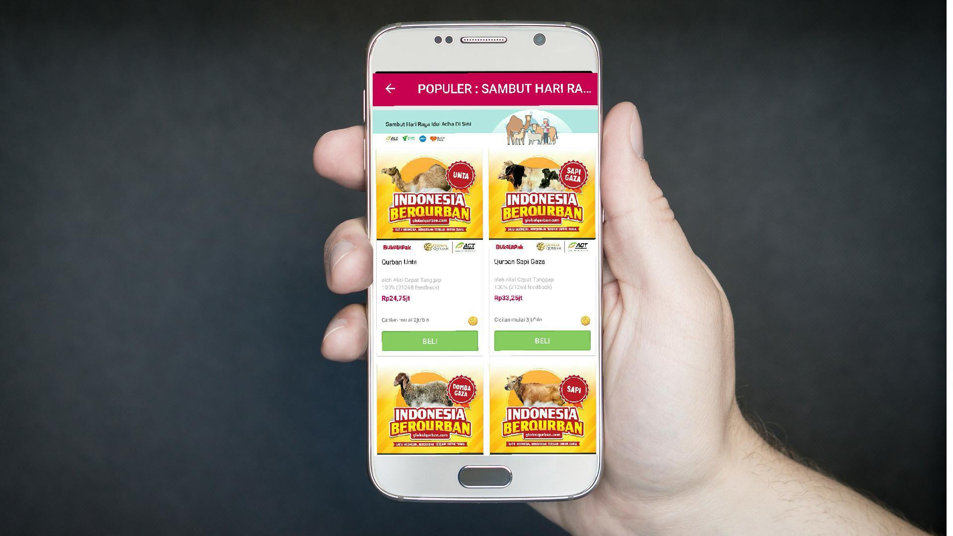 Bukalapak merupakan salah satu penyedia layanan kurban online. Liputan6.com/Mochamad Wahyu Hidayat