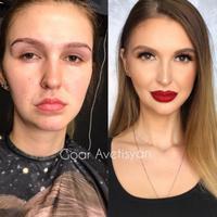 Transformasi makeup bikin pangling. (Foto: Instagram/goar_avetisyan).