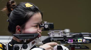 Foto: Bidikan Tepat Sasaran, Yang Qian Raih Medali Emas Pertama Olimpiade Tokyo 2020