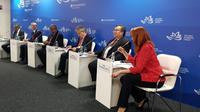 Menteri Bambang Brodjonegoro dalam acara Human Capital for New Eurasia di Vladivostok. Dok: Bappenas