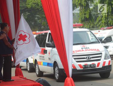 Wapres Jusuf Kalla Lepas Relawan PMI Angkutan Lebaran 2018