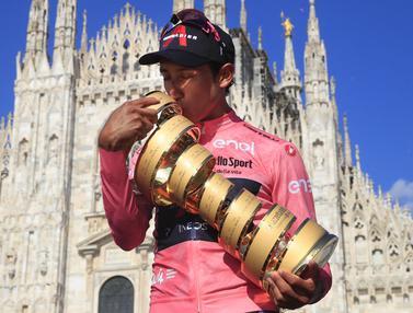 Foto: Egan Bernal, Si Maglia Rosa Giro d'Italia 2021, Kemenangan Kedua Grand Tour-nya
