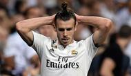 Striker Real Madrid, Gareth Bale, tampak kecewa saat melawan Atletico Madrid pada laga La liga di Stadion Santiago Bernabeu, Madrid, Sabtu (29/9/2018). Kedua klub bermain imbang 0-0. (AFP/Oscar Del Pozo)