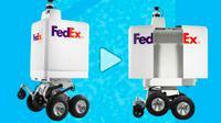 Robot segway pengirim barang FedEx. (Foto: FedEx)