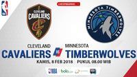 Cleveland Cavaliers Vs Minnesota Timberwolves_2 (Bola.com/Adreanus Titus)
