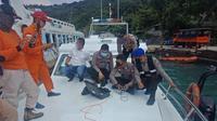 Pencarian bocah 9 tahun yang meninggal setelah tenggelam di Perairan Batu Bolong, Merak, Banten. (dok Polairud Polda Banten)