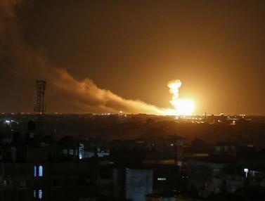 Serangan Udara Israel Gempur Jalur Gaza