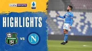 Berita video highlihts Liga Italia, Sassuolo Vs Napoli berakhir imbang 3-3, Kamis (4/3/21)
