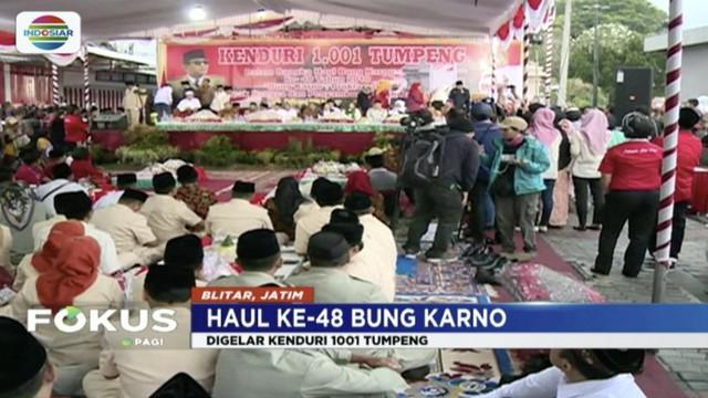 Warga Blitar, Jawa Timur, peringati Haul Bung Karno dengan menggelar Keduri 1001 Tumpeng.
