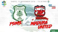 Liga 1 2018 PSMS Medan Vs Madura United (Bola.com/Adreanus Titus)