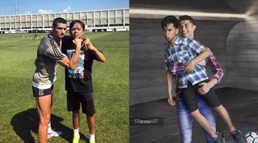 Bak Sahabat Dekat, 6 Editan Foto Bareng Cristiano Ronaldo Ini Kocak