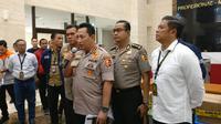 Kabareskrim Polri Komjen Listyo Sigit di Bareskrim Polri, Kamis (30/1/2020). (Liputan6.com/Nanda Perdana Putra)