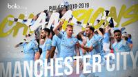 Manchester City Juara Piala FA 2018-2019. (Bola.com/Dody Iryawan)