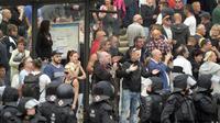 Demonstrasi besar selama dua hari di kota Chemnitz, Jerman, akibat krisis imigran (AP/Jens Meyer)