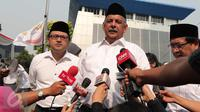 Direktur Utama PLN Sofyan Basir menghadiri upacara peringatan Hari Listrik Nasional ke-70 di Gedung PLN Pusat Jakarta, Selasa (27/10) (Liputan6.com/Angga Yuniar)