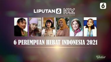Deretan 6 pemenang Anugerah Perempuan Hebat 2021 yang digelar secara daring oleh Liputan6.com. Anugerah Perempuan Hebat yang ketiga ini diselenggarakan bertepatan pada Hari Kartini 21 April 2021 yang mengusung tema Tetap Hebat di Masa Pandemi. (Liputan6.com)