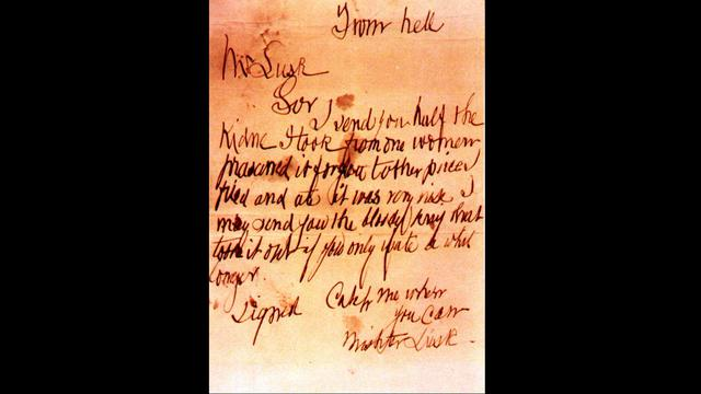 """The """"From Hell"""" letter yang dikirimkan Jack the Ripper"""