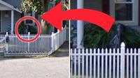 Penampakan hantu anak kecil di halaman rumah (Google Earth)