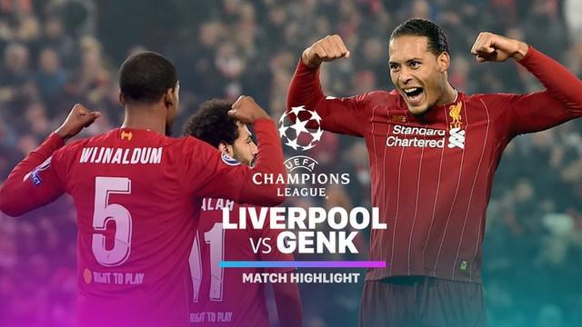 Berita video highlights matchday 4 Grup E Liga Champions 2019-2020 antara Liverpool melawan Genk yang berakhir dengan skor 2-1, Selasa (5/11/2019).