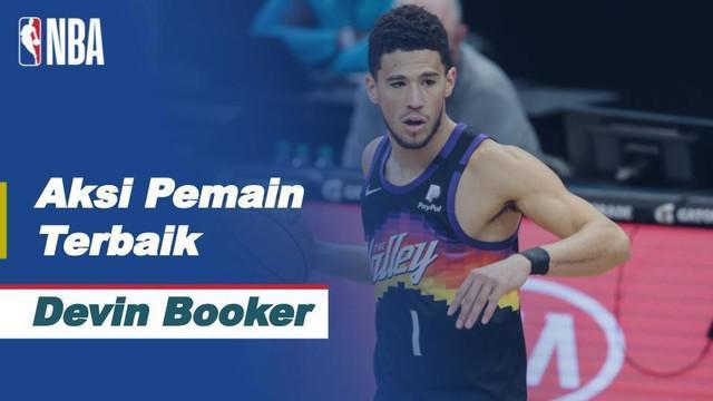 Berita video deretan aksi impresif Devin Booker yang berhasil bawa Phoenix Suns Raih kemenangan perdana atas Milwaukee Bucks di final Playoff NBA 2021, Rabu (7/7/2021) pagi WIB.