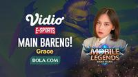 Program main bareng Mobile Legends: Bang Bang akan menghadirkan Grace.