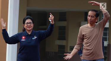 Presiden Jokowi Senam Bareng Warga Kota Tangerang
