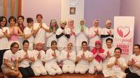 Saat anggota LovePink berkumpul mengikuti sesi self healing dan hypno slimming di bulan Juni 2014. (Foto: lovepinkindonesia.org)