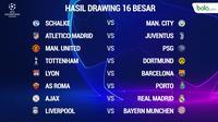 Liga Champions Hasil Drawing 16 Besar (Bola.com/Adreanus Titus)