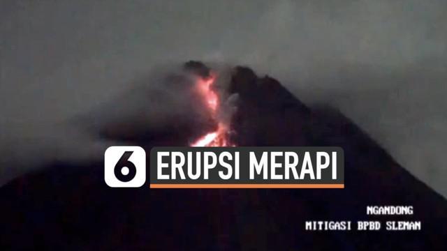 Aktivitas vulkanik Gunung Merapi terus terjadi hingga Jumat (29/1) dini hari. Belasan kali lava pijar meluncur dari puncak gunung merapi terekam kamera pemantau.