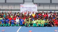 Federasi Hoki Indonesia (FHI) berkerjasama dengan Kadin Surabaya dan British Chamber Of Commerce In Indonesia gelar coaching clinic (Dimas Angga)