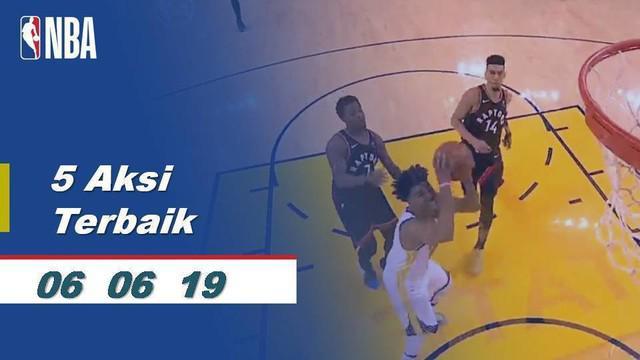 Berita video kompilasi aksi-aksi terbaik pada game 3 Final NBA 2019, Toronto Raptors vs Golden State Warriors, Kamis (6/6/2019).
