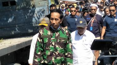Presiden Jokowi tinjau kondisi Kota Palu usai gempa