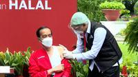 Jokowi ungkap target vaksinasi Corona di Indonesia, usai menjalani vaksinasi tahap kedua.