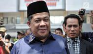 Wakil Ketua DPR RI Fahri Hamzah usai memenuhi panggilan di Mapolda Metro Jaya, Jakarta, Senin (19/3). Fahri menyatakan Sohibul Iman melakukan penyerangan di depan umum dengan menyebut dirinya pembohong dan pembangkang. (Merdeka.com/Iqbal S. Nugroho)