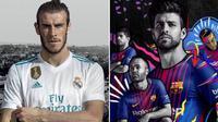 Real Madrid dan Barcelona telah merilis jersey anyar untuk musim 2017-2018. (Marca).