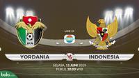 Yordania vs Indonesia. (Bola.com/Dody Iryawan)