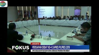 Dalam rapat, nama Ryan Wiedaryanto dan Kania Sutisnawinata diusulkan untuk menjadi moderator debat keempat capres yang akan digelar di Hotel Shangrila Jakarta.