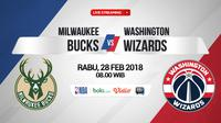 Milwaukee Bucks Vs Washington Wizards (Bola.com/Adreanus Titus)