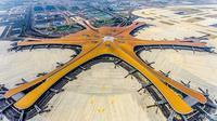 China akan membuka bandara baru bernilai miliaran dolar yang menyerupai bintang laut besar yang bersinar (AFP)