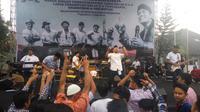 Band ska Shaggydog merayakan ulang tahun ke-22 di Lapas Wirogunan Yogyakarta (Liputan6.com /Switzy Sabandar)