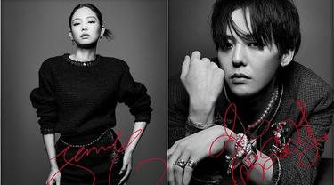 Jennie BLACKPINK dan G-Dragon BIGBANG