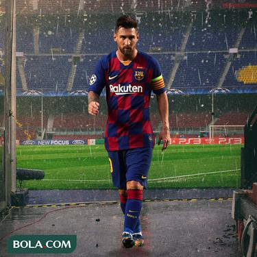 Barcelona - Lionel Messi Walk Out From Camp Nou